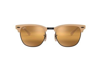 RB3716 CLUBMASTER METAL Brown/Yellow