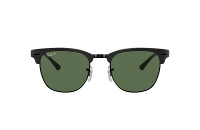 RB3716 CLUBMASTER METAL Black/Green