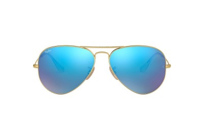 RB3025 AVIATOR FLASH LENSES Gold/Blue