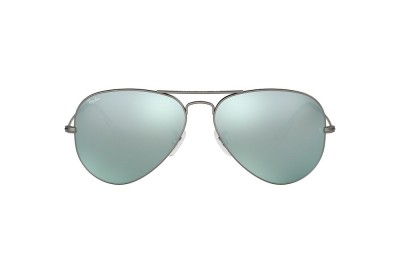 RB3025 AVIATOR FLASH LENSES Grey/Silver