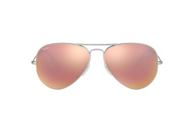 RB3025 AVIATOR FLASH LENSES Silver/Pink