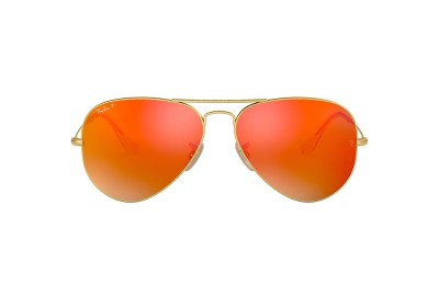RB3025 AVIATOR FLASH LENSES Gold/Orange