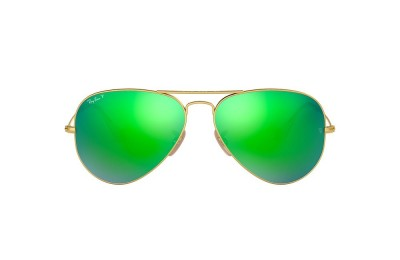 RB3025 AVIATOR FLASH LENSES Gold/Green