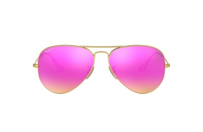RB3025 AVIATOR FLASH LENSES Gold/Violet