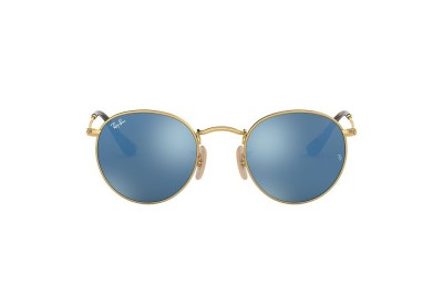 RB3447N ROUND FLAT LENSES Gold/Blue