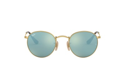 RB3447N ROUND FLAT LENSES Gold/Silver