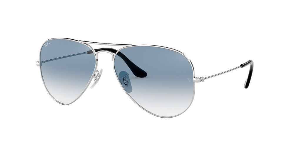 RB3025 AVIATOR GRADIENT Silver/Blue