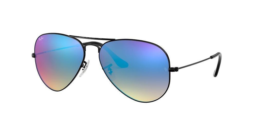 RB3025 AVIATOR FLASH LENSES GRADIENT Black/Blue