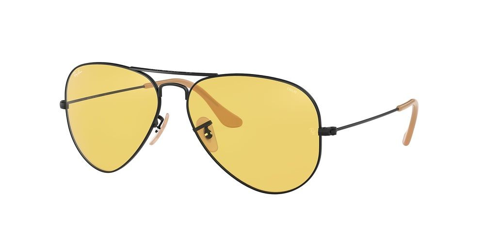 RB3025 AVIATOR WASHED EVOLVE Black/Yellow
