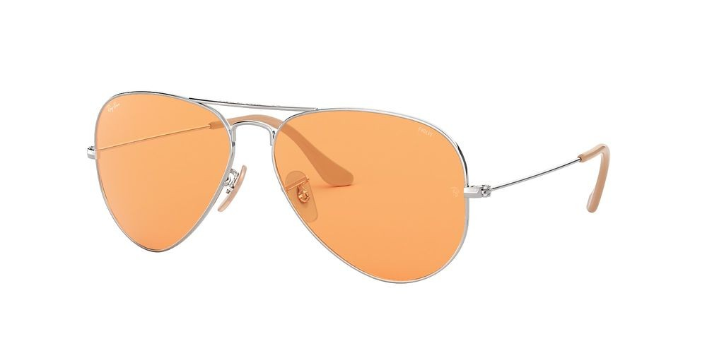 RB3025 AVIATOR WASHED EVOLVE Silver/Orange