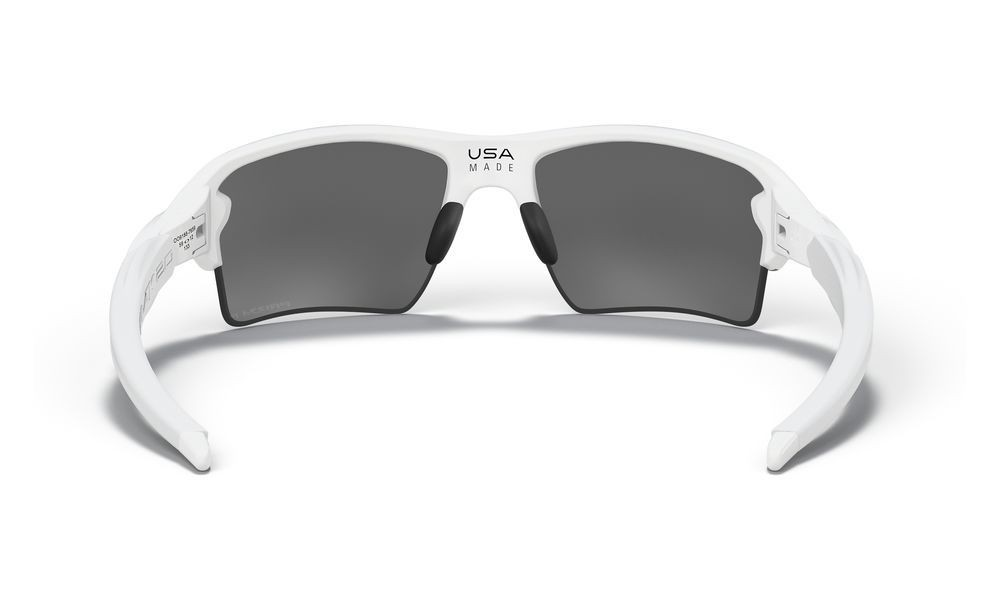 Flak® 2.0 XL polished white/prizm black polarized