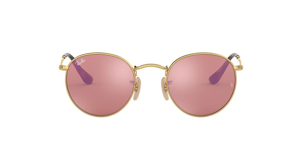 RB3447N ROUND FLAT LENSES Gold/Pink