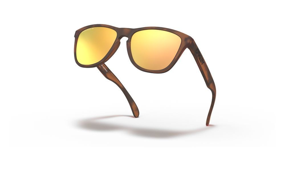 Frogskins™ matte brown tortoise/prizm rose gold polarized